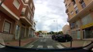 Timelapse city drive