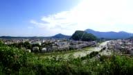Time-lapse: City of Salzburg, Austria, in summer.