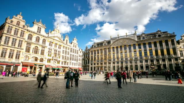 Timelapse hd ville pi tonne de la grandplace de bruxelles for Commerce exterieur belgique
