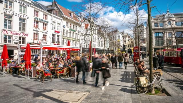 Timelapse 4 k meir rue commer ante pi tonne de ville for Commerce exterieur belgique