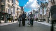 Time-lapse: City Pedestrian Meir shopping street Antwerp Belgium