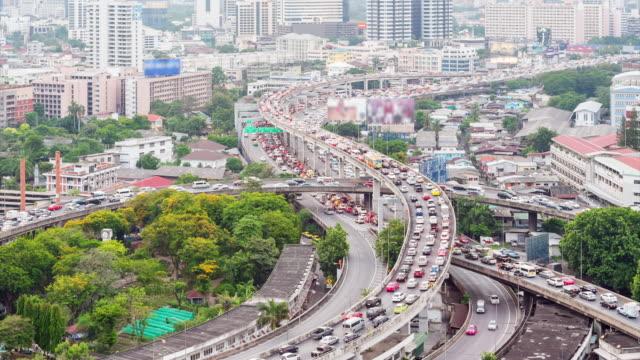 4K Time-lapse: City Traffic Jam
