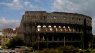 Timelapse Coliseum antiken römischen Amphitheater in Rom, Italien