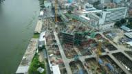 4K Time-lapse construction crane and building architecture