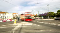 HD Time-lapse: Crowd pedestrian Lisbon City at Belem Portugal