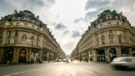 HD time-lapse: Crowded Pedestrian at Opera Paris