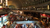 HD Timelapse - Crowded people in shopping mall at singapore