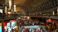 Time-lapse crowded people in shopping mall at singapore
