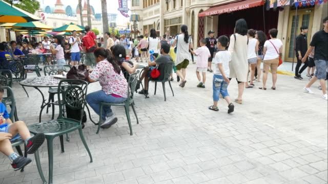 Timelapse - trångt personer i Singapore