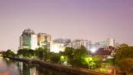 4K Timelapse Day to night: Siriraj Hospital building in Bangkok city.
