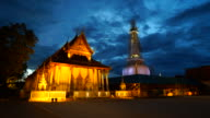 Timelapse day to night wat phra mahathat