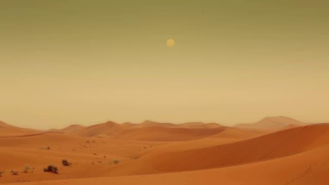 Zeitraffer-Wüste