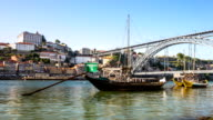 HD time-lapse: Dom Luiz bridge in Porto Cityscape Portugal