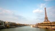 HD Timelapse: Eiffel Tower Paris along River Seine, France