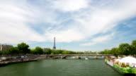 HD-Zeitraffer: Eiffelturm, Paris, Frankreich