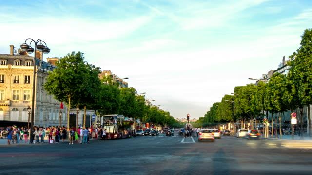 HD Timelapse: Elysees Paris city, France
