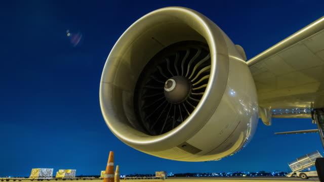 Time-lapse : Engine aircraft