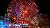 Time-lapse : Ferris wheel at Yokohama city in Japan