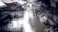 Time-lapse: Flytande marknad, Bangkok, Thailand