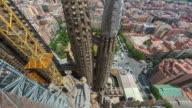 Timelapse from Roof of La Sagrada Família, Barcelona