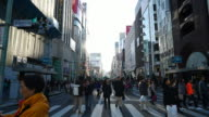 Timelapse : Ginza area in Tokyo Japan