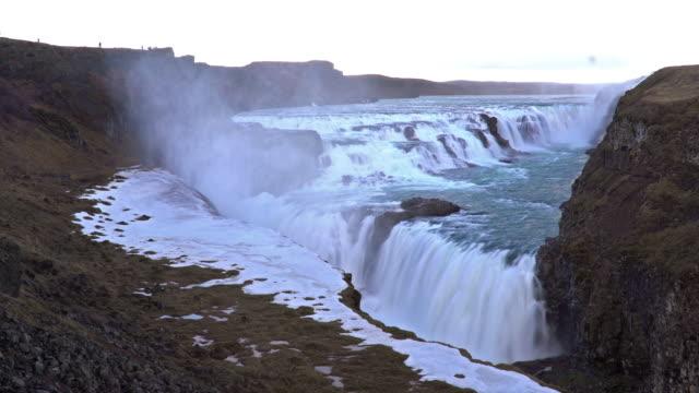 Time-lapse: Gulfoss Golden Falls waterfall Iceland