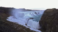Time-lapse: Gulfoss Golden Falls waterfall Iceland