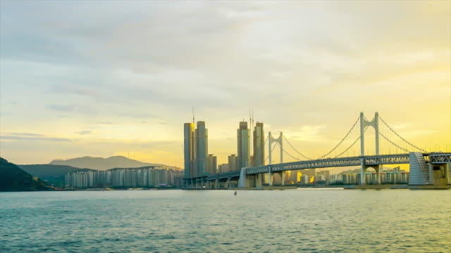 timelapse Gwangan Bridge with Busan City