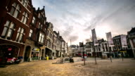 HD time-lapse: Hague Downtown Netherlands night