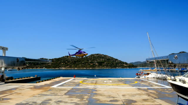 Time-Lapse Helicopter Landing and Takeoff