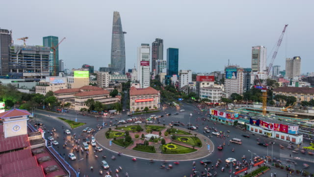 4K time-lapse : Ho Chi Minh City view at night