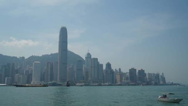 Timelapse Hong kong skyline der Stadt