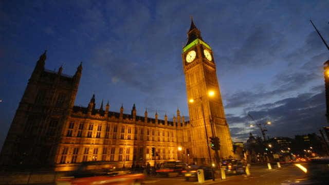 Time-lapse Houses of Parliament and Big Ben HD1080