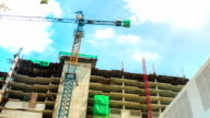 HD Timelapse Hyperlapse: Working in Construction Site