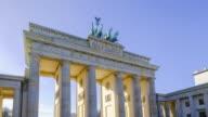4 K Timelapse in Berlin-Brandenburger tor Gate, Berlin, Duitsland