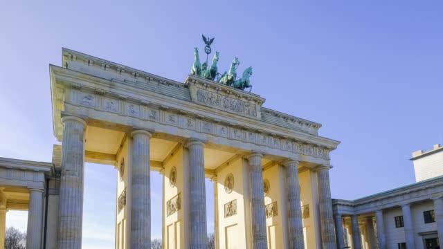 4K Timelapse in Berlin Brandenburg tor Gate, Berlin, Germany