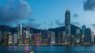 4K time-lapse : Lighting show at Victoria Harbor, Hong Kong