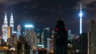 Time-Lapse Malaysia Stadt, schwenken links video 4k.