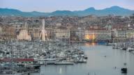 4 K Time-lapse : Vecchia città di Marsiglia Vieux Port tramonto