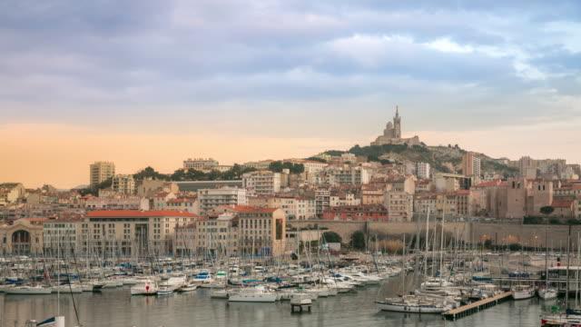 Lasso di tempo : Vecchia città di Marsiglia Vieux Port tramonto