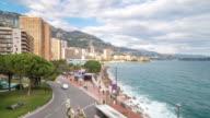 Time-lapse: Monaco Beach Monte Carlo french riviera