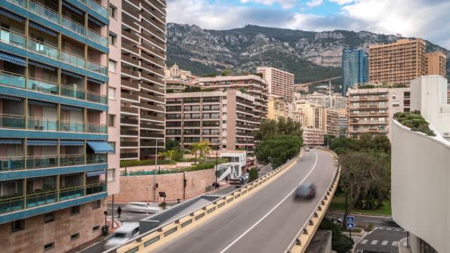 Time-lapse: Monaco Monte Carlo french riviera cityscape