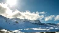 HD Time-lapse: Mountain range Snaefellsnes Peninsula, waterfall landscape Iceland