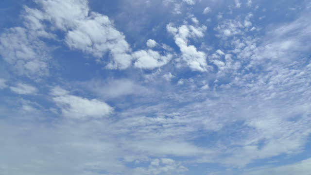 Time-lapse moving cloud on blue sky