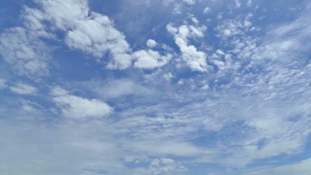 Zeitraffer bewegen Wolken auf blauem Himmel