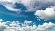 Time-lapse : moving clouds in blue sky