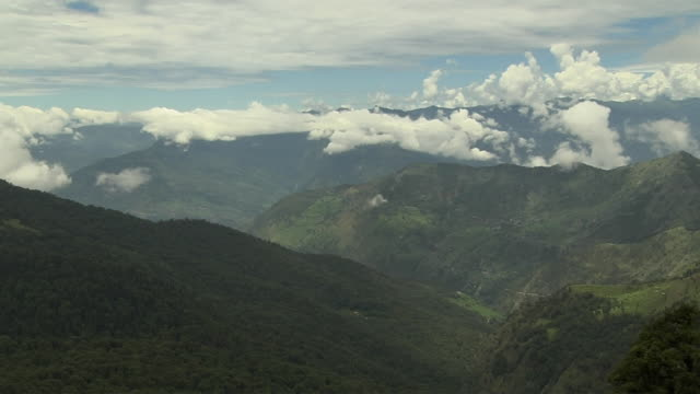 Timelapse moving clouds over mountains chopta uttarakhand india