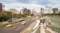 Time-lapse: Nagoya cityscape and Pedestrians at Sakae Chubu Japan