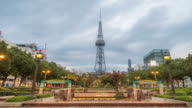 Time-lapse: Nagoya TV Tower at Sakae sunset Japan