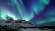 HD Time-lapse: Northern Light Aurora Borealis at Kirkjufell Iceland